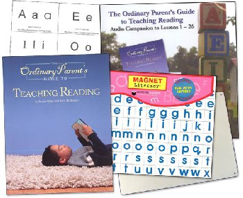 Ordinary Parent's Guide to Teaching Reading Combo Pack (Paperback Book, Audio, Flashcards, Magnet Board Set)