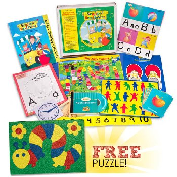 Sing, Spell, Read & Write Preschool Kit with FREE Lauri Caterpillar Puzzle Homeschool Edition