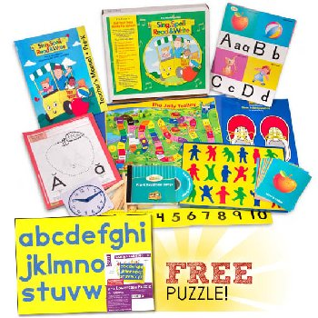 Sing, Spell, Read & Write Preschool Kit with FREE Lauri a-z lowercase Puzzle Homeschool Edition