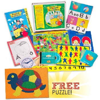 Sing, Spell, Read & Write Preschool Kit with FREE Lauri Turtle Puzzle