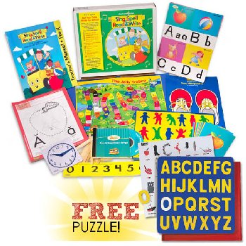 Sing, Spell, Read & Write Preschool Kit with FREE Lauri A-Z Uppercase Puzzle Homeschool Edition