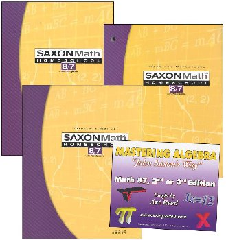 Saxon Math 8/7 and Mastering Algebra DVD Package