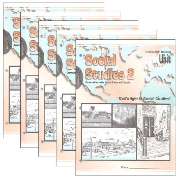 Social Studies 201-205 LightUnit Answer Key Set Sunrise Edition