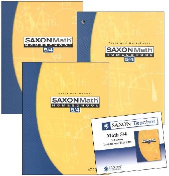 Saxon 5/4 Homeschool Kit + Saxon Teacher CD-ROM