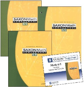 Saxon 6/5 Homeschool Kit + Saxon Teacher CD-ROM