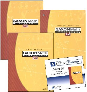 Saxon 7/6 Homeschool Kit + Saxon Teacher CD-ROM