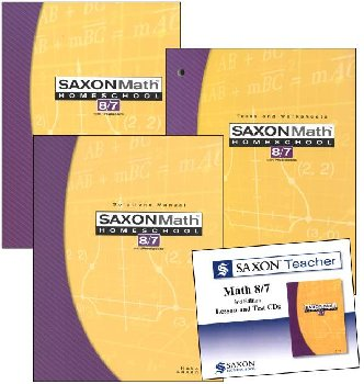 Saxon 8/7 Homeschool Kit + Saxon Teacher CD-ROM
