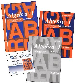 Algebra 1 Saxon Home Study Kit + Saxon Teacher CD-ROM