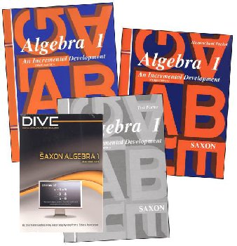 Algebra 1 3rd Edition Saxon Home Study Kit plus DIVE CD-ROM