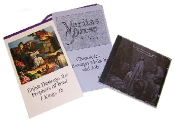 Veritas Bible Chronicles through Malachi Home School Kit with CD